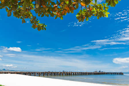 Hua Hin beach, is famous, Thailand. Stock Photo