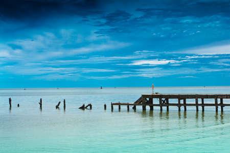 Hua Hin beach, is famous, Thailand. Stock Photo