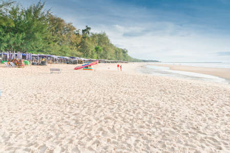 Cha -Am Beach, a famous beach, Thailand Stock Photo - 15950986