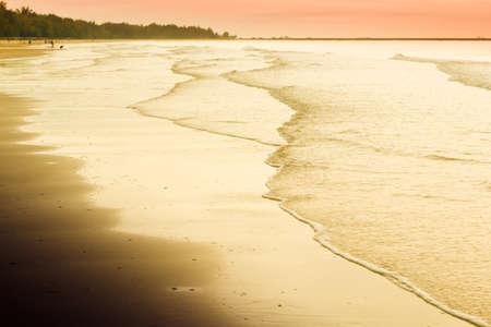 Cha -Am Beach, a famous beach, Thailand photo