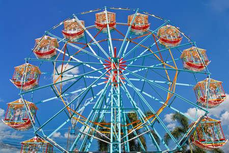 Ferris wheel at a carnival.