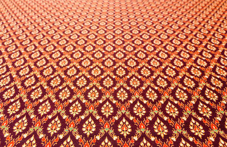 Pattern on the fabric is a art Thailand  photo