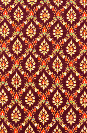 Pattern on the fabric is a art Thailand  Stock Photo