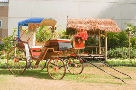 carriage  (see free show, at Mae Moh Lignite Mine) Lampang Thailand. photo