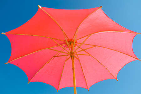 red  handmade umbrella photo