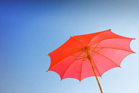 red  handmade umbrella