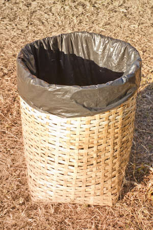 Trash are made from woven bamboo Stock Photo - 18500763