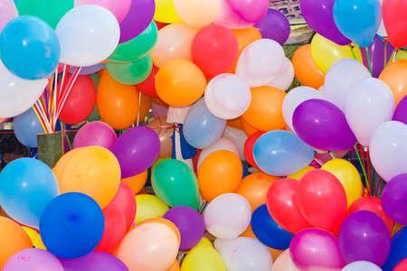 Fondo de muchos globos de colores Foto de archivo - 19430148