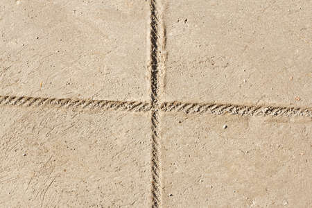 Stripes on the cement floor background photo