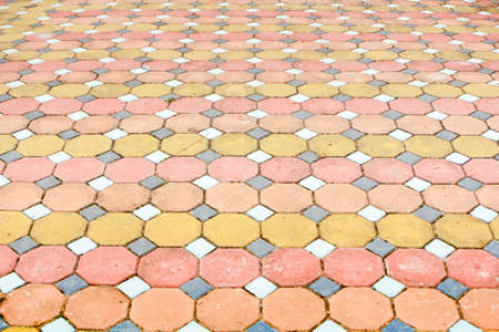 Cement block flooring colorful photo