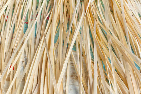 privatization: Bamboo products for privatization to take the woven, make the products  Stock Photo