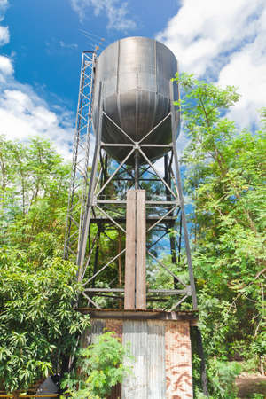 water tank  for an old steam train,thailand Stock Photo - 19937626
