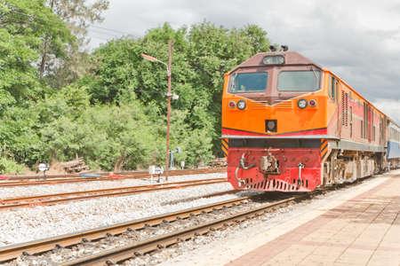 Diesel train in thailand Stock Photo - 19937597