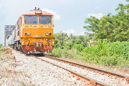 Diesel train in thailand Stock Photo - 19937599