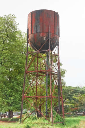 water tank  for an old steam train,thailand Stock Photo - 19937598