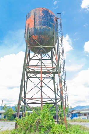 water tank  for an old steam train,thailand Stock Photo - 19937567