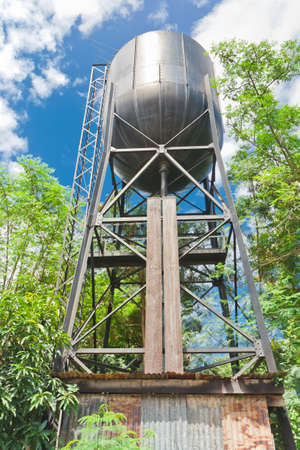 water tank  for an old steam train,thailand Stock Photo - 20633919