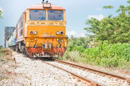 Diesel train in thailand Stock Photo - 20633940
