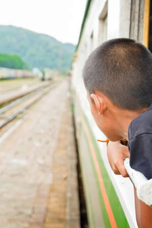Diesel train and passenger, in Thailand Stock Photo - 20633767