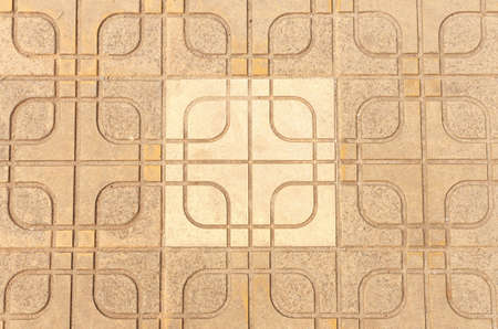 Block cement beautiful pattern floor  photo