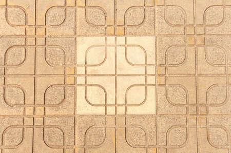 Block cement beautiful pattern floor  Stock Photo