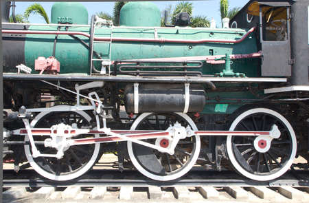Old Steam train, then retired Stock Photo - 20945866