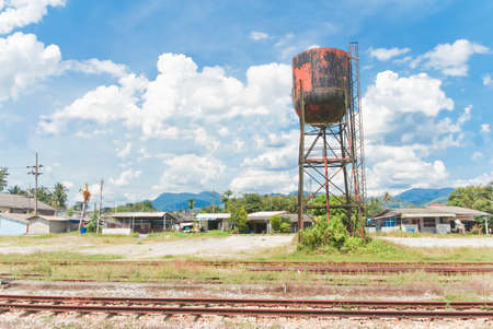 water tank  for an old steam train,thailand photo
