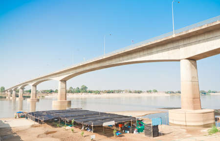 Bridge across the Mekong River  from Thailand  Nong Khai  - Lao  Vientiane  we called friendship bridge  1st  , Thailand photo