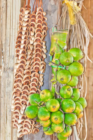 Betel  Nuts   Areca catechu Linn  Fresh and dried, hang are a bunch  photo