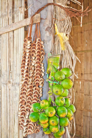 Betel  Nuts   Areca catechu Linn  Fresh and dried, hang are a bunch