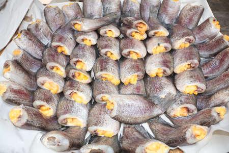 pectoralis: Drying gourami fishes   Trichogaster pectoralis