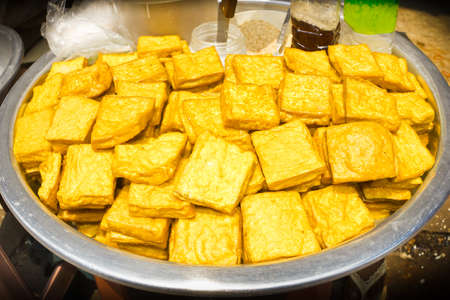 Yellow tofu, snacks burmese Style  photo