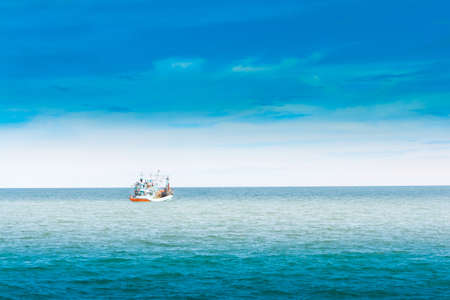 Fishing boats, at sea  cha-am photo