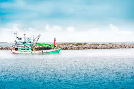 cha: Fishing boats, at the harbor Cha -Am