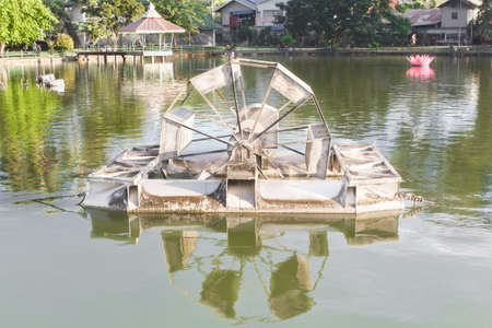 Aerator is Water mill to make the good environment photo