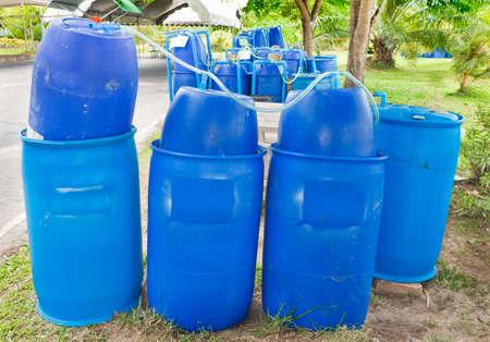 Plastic tank for fermentation biogas