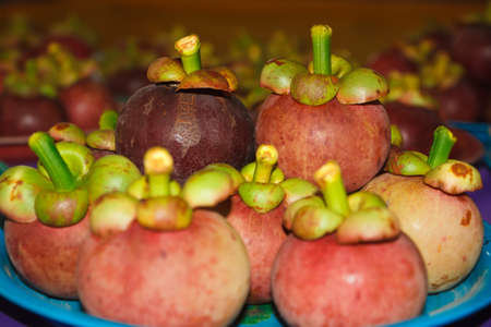 mangosteen,in the plate
