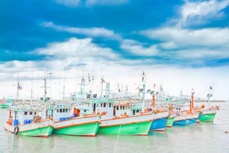 Fishing boats, at the harbor Cha -Am photo
