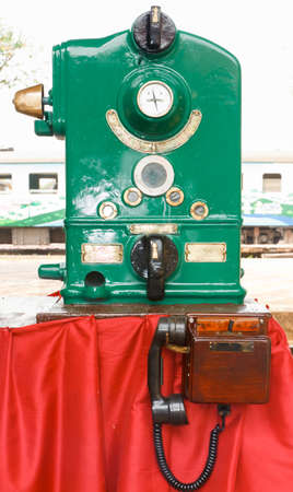 shunt: Token Machine. The safety equipment, used in the railway.