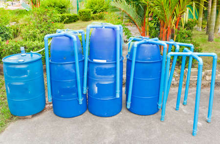 Plastic tank for fermentation biogas. Reklamní fotografie