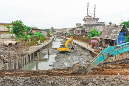 construction of the canal,in thailand