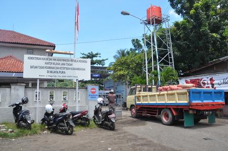 carry out: Nusakambangan ready for execution.  Building material transported to Nusakambangan Island. The firing range in Nusakambangan island is being bulit to carry out executions