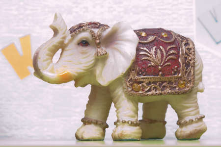 Beautiful elephant souvenir as sold in the souq of Baku , Azerbaijan Emirates .Decorated elephant , used generally in indian culture, used as a souvenir. Фото со стока