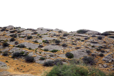 Gobustan National Park. Gobustan National Park, the oldest settlement in Azerbaijan, is protected by unesco. Gobustan, Azerbaijan. Stock Photo