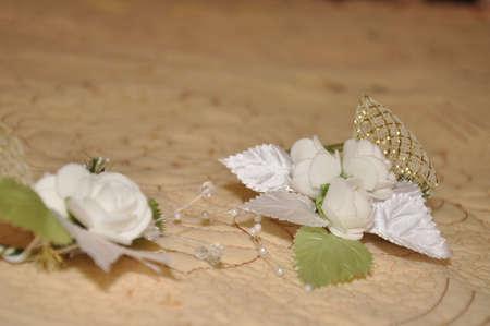 brooch: Brooch Bride. Wedding accessories bride Stock Photo