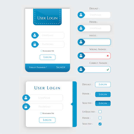 User Login Form UI