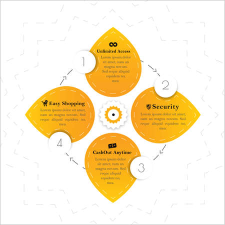 element: Yellow Infographic Element Illustration