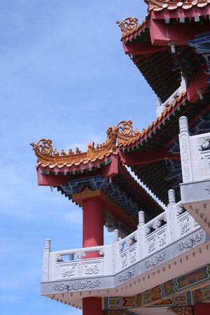 Traditional design of Lin San Pagoda Tuaran Borneo photo
