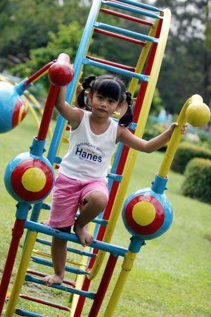 gleeful: children at playground