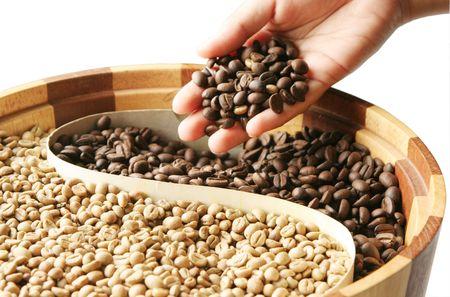 decaf: coffee beans